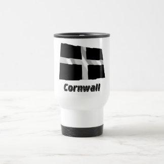 Cornwall Waving Flag with Name Mug