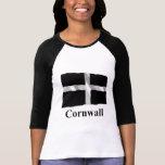Cornwall Waving Flag with Name T Shirts