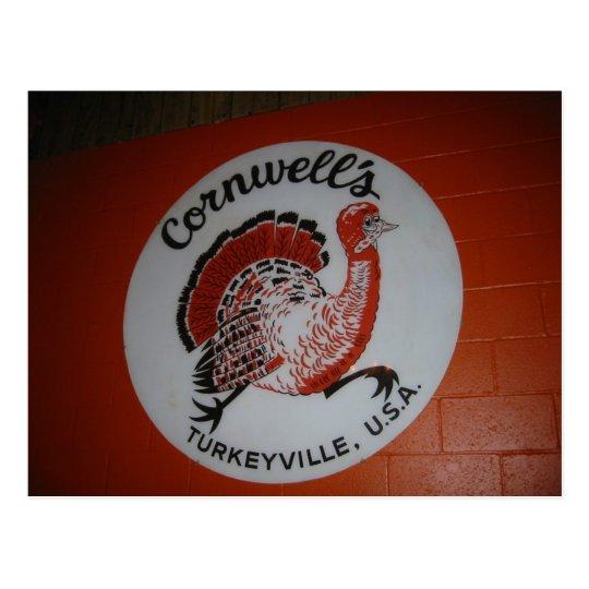 Cornwell's Turkeyville USA Postcard