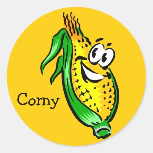 Corny Corn Guy Stickers