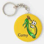 Corny Cornface Key Chain