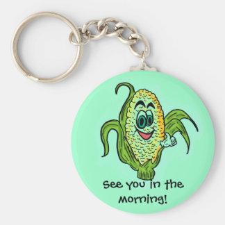 Corny humor food keychain