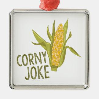 Corny Joke Metal Ornament