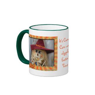 CornyScareCrowMug-customize Ringer Coffee Mug