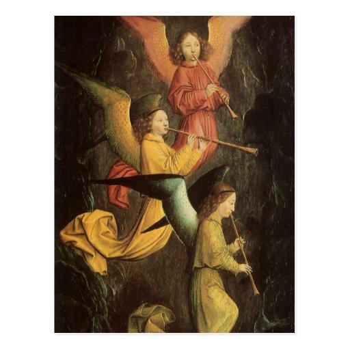 Coro de ángeles de Simon Marmion, arte renacentist Tarjetas Postales
