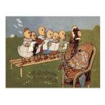 Coro de la gallina del polluelo de Pascua Tarjetas Postales