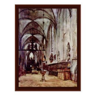 Coro de la iglesia vieja del monasterio en Berlín Tarjeta Postal