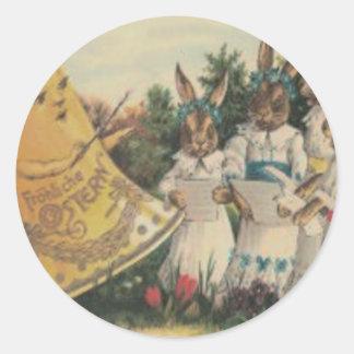 Coro de la margarita del lirio de Bell del Pegatina Redonda