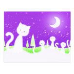 Coro de los gatos postal