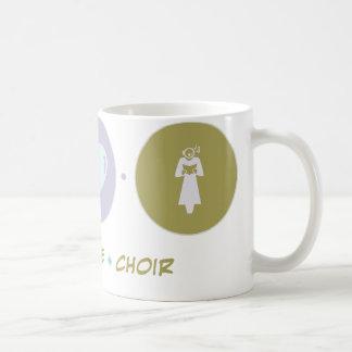 Coro del amor de la fe taza de café