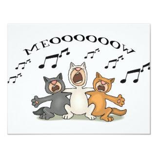 Coro del gato anuncio personalizado