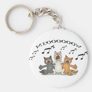 Coro del gato llavero redondo tipo pin