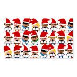 Coro del navidad del bebé tarjetas de negocios