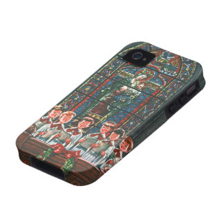 Coro del navidad del vintage en los niños de la vibe iPhone 4 carcasas