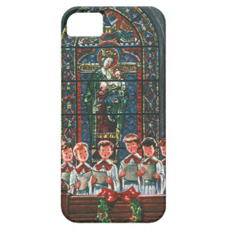 Coro del navidad del vintage en los niños de la iPhone 5 protector
