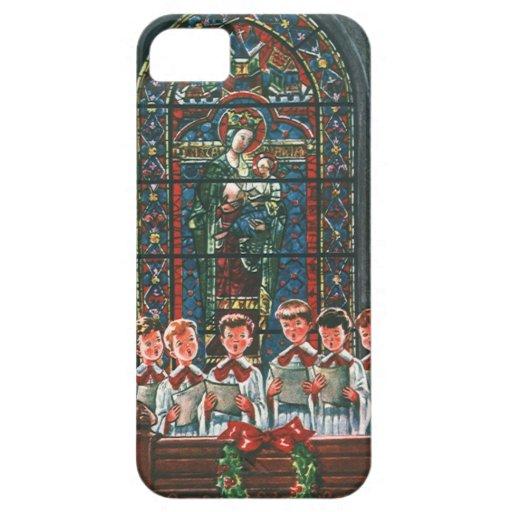 Coro del navidad del vintage en los niños de la ig iPhone 5 protector