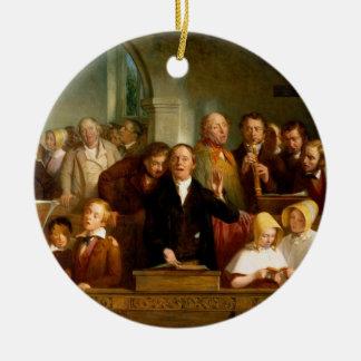 Coro del pueblo (véase también 12274) adorno navideño redondo de cerámica