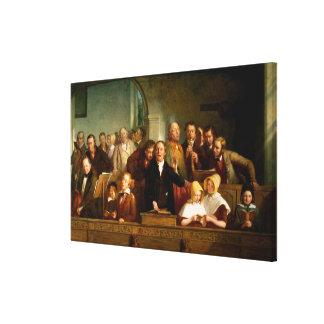Coro del pueblo (véase también 12274) impresión en tela
