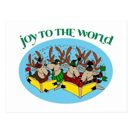 Coro del reno - alegría al mundo postales