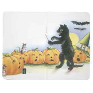 Coro principal de Halloween de la linterna de Jack Cuaderno Grapado