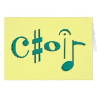 coro tarjeta de felicitación