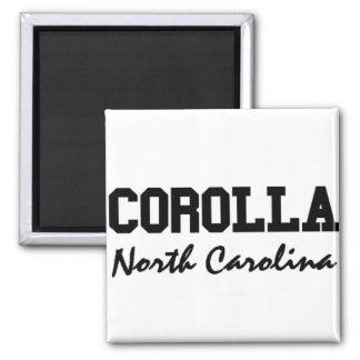 Corolla North Carolina 2 Inch Square Magnet