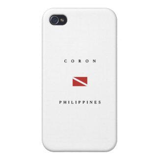 Coron Philippines Scuba Dive Flag iPhone 4/4S Cases