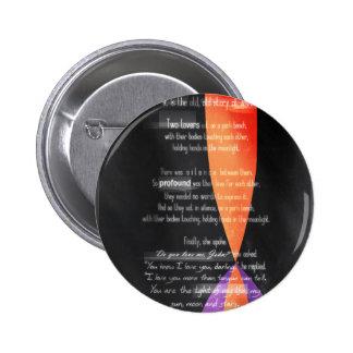 Corona 2013 de Carolina - amantes en un banco de p Pin Redondo 5 Cm