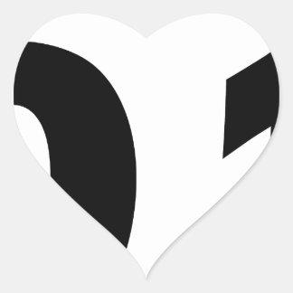 Corona 2013 de lujo pegatina en forma de corazón