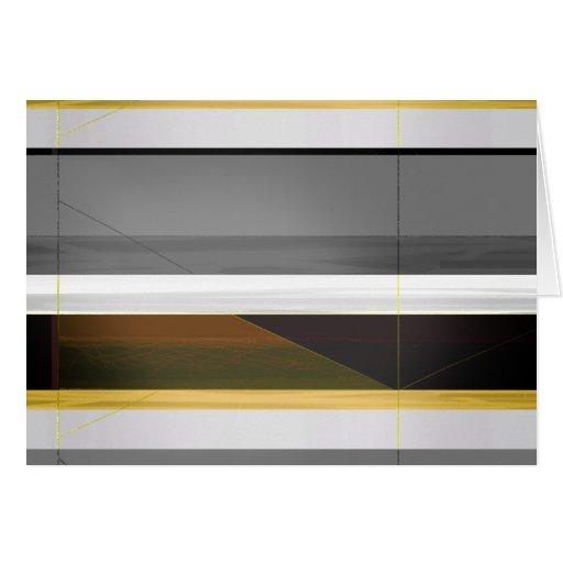 Corona abstracta y amarillo tarjeta de felicitación