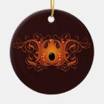 Corona adornada ornamento para arbol de navidad