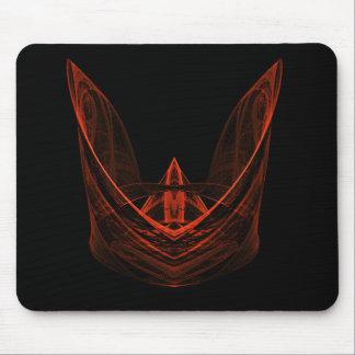 Corona anaranjada de la servilleta mousepads