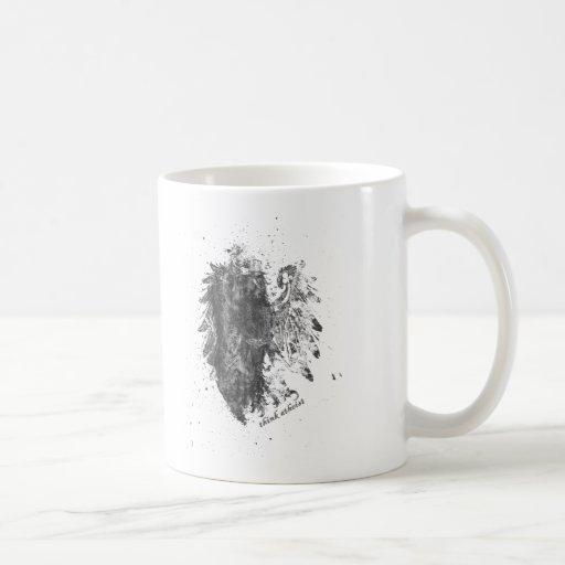 Corona-Ateo-Pájaro Taza Básica Blanca