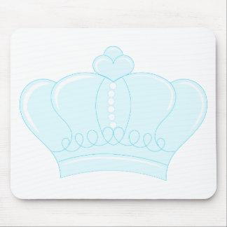 Corona azul alfombrillas de ratones
