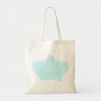 Corona azul bolsa tela barata