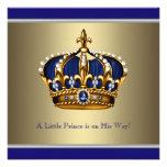 Corona azul del oro pequeña fiesta de bienvenida a comunicados personales
