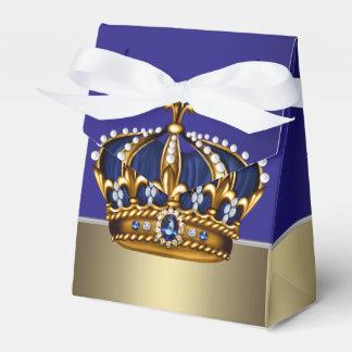 Corona azul del oro pequeña fiesta de bienvenida a paquete de regalo para fiestas