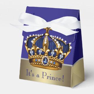 Corona azul del oro pequeña fiesta de bienvenida cajas para regalos de fiestas
