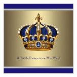 Corona azul del oro pequeña fiesta de bienvenida comunicados personales