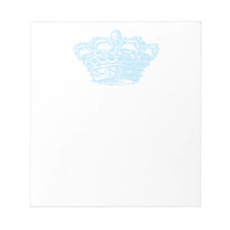 Corona azul libreta para notas