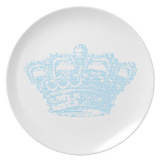 Corona azul plato de comida