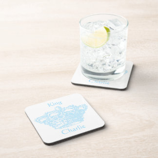 Corona azul posavasos de bebida
