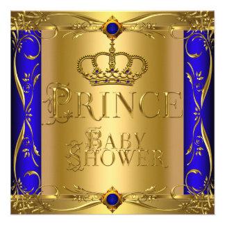 Corona azul real 9 del pequeño muchacho del prínci