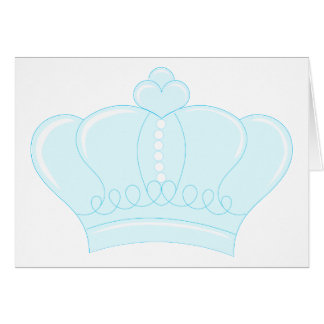 Corona azul felicitacion