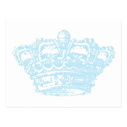 Corona azul tarjeta postal