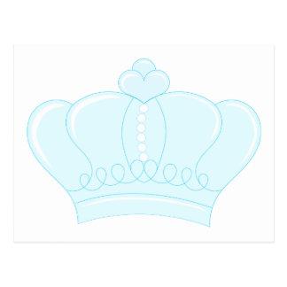 Corona azul postales