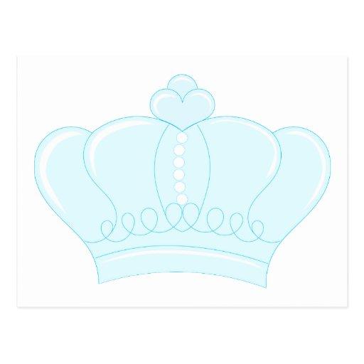 Corona azul tarjetas postales