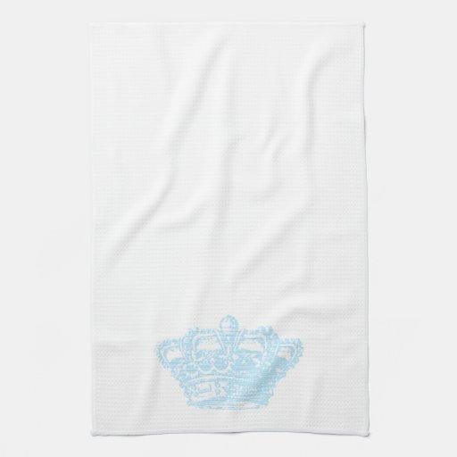 Corona azul toallas