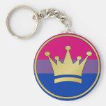 Corona bisexual del orgullo llavero