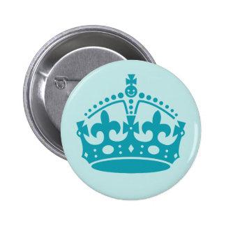 Corona británica real pin redondo de 2 pulgadas